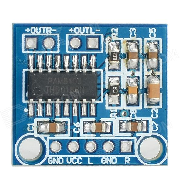 MINI PAM8403 5V Audio Amplifier Module - Deep Blue