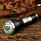 560lm LED 3-Mode White Light Flashlight - Black + Silver (1 x 26650)