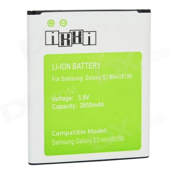 IKKI 3.8V 2850mAh Li-ion Battery for Samsung Galaxy S3 Mini / i8190 - White + Green ikki 3 8v 2850mah li ion battery for samsung galaxy s3 mini i8190 white green