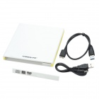 Cheerlink Slim Portable USB 3.0 External Optical DVD / CD-ROM Drive Case - White