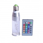 E27 3W 250lm LED RGB Crystal Light Bulb w/ Remote Control - Silver + Transparent (AC 85~265V)