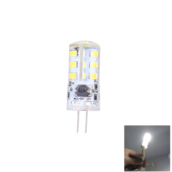 MSLED SA50 G4 5W 320lm 6500K 27-SMD 2835 LED White Crystal Light Lamp - Transparent + Yellow (12V) msled gf05 g9 5w 220lm 3500k 5 cob led warm white light crystal lamp silver yellow ac 96 265v