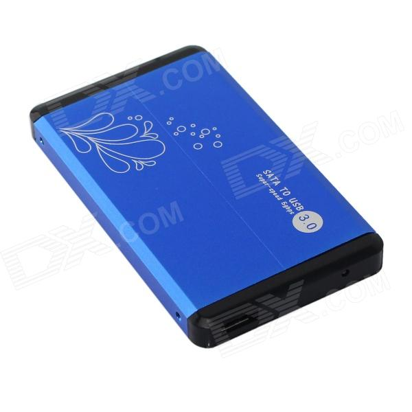 High Speed 2.5 USB 3.0 SATA HDD Enclosure - Blue (Max. 3TB) sata usb 3 0 blue orange hdd case with 250g hard disk heating release rubber case 2 5 fast reading speed case