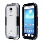 Aoluguya AL01 Waterproof PC Full Body Back Case for Samsung Galaxy S4 i9500 - Black + Transparent