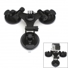 JUSTONE 3D Printing 3-Suction Cup Holder Mount for SJ4000/GoPro 1/2/3/3+ - Black