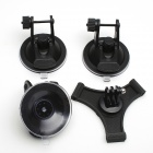 3D Printing 3-Suction Cup Holder Mount for SJ4000/GoPro Hero 4/2/3/3+ - Black