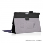 HighPro PRO3_02 Protective PU Leather Case w/ Stand for Microsoft Windows Surface Pro 3 - Black
