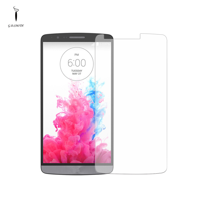 GODOSMITH MOG301B 0.3mm Tempered Glass Screen Guard Protector for LG G3 - Transparent g3 3 protective 0 3mm tempered glass clear screen guard protector for lg g3 transparent