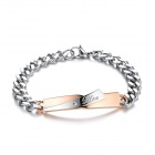 Women's Stylish 316L Stainless Steel Bracelet - Silver + Gold