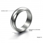 Men's Simple Classic 316L Stainless Steel Ring - Silver
