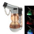 602 Creative Fashion Gourd Shape Wind-proof Gas Lighter with LED Light - Orange