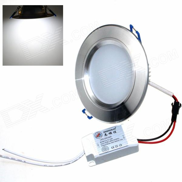 ZHISHUNJIA ZSJ8W-S 8W 600lm 6000K 16-SMD 5630 LED White Ceiling Lamp - Silver (AC 85~265V) kinfire circular 6w 420lm 6500k 30 x smd 3528 led white light ceiling lamp w driver ac 85 265v