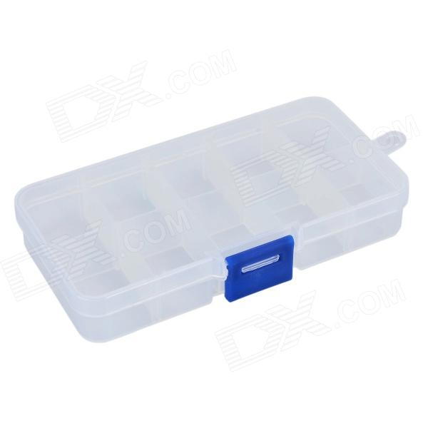 PP 10-Grid Electronic Components Storage Box - Translucent White