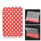 Polka Dot Flip-Open PU Leather Case w/ Auto Sleep / Stand for Xiaomi MIUI Mi Pad - Red + White
