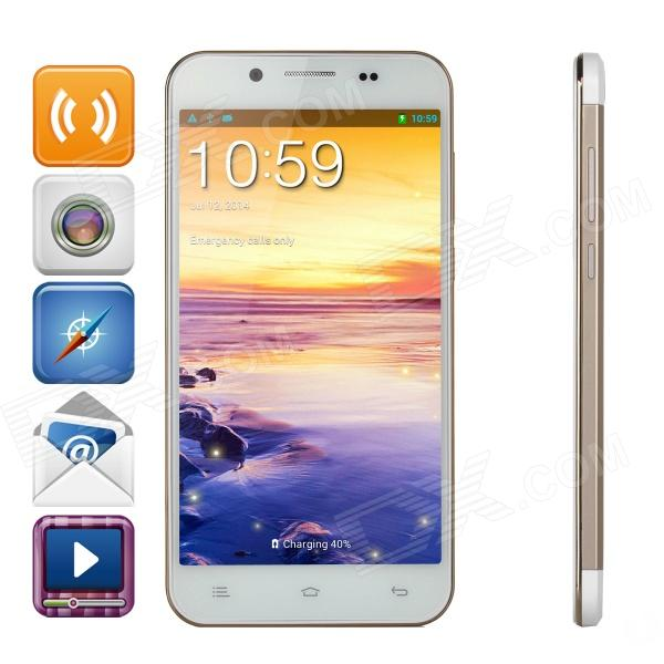 ZOPO ZP1000 Android 4.2 Octa-core WCDMA Bar Phone w/5.0 Screen, Wi-Fi and ROM 16GB - White + Golden zopo zp998 android 4 4 wcdma octa core bar phone w 5 5 screen wi fi and rom 16gb white