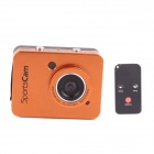 "PANNOVO 2.4"" Touch Screen 5.0M CMOS HD Waterproof Sport Mini Camcorder w/ HDMI + Remote - Golden"