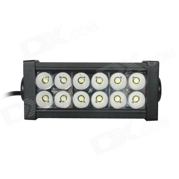 Guleek GLK-A036F 36W 2520lm 6000K 12-Epistar LED Flood White Light Working Lamp Bar for Car / Boat guleek 60w type h 4200lm 6000k 6 led white flood spot light worklight bar for car boat