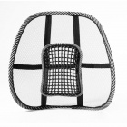 HY01 Mesh Massage Car Seat Cushion Waist Pad - Black