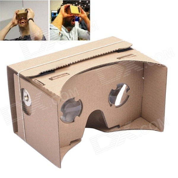 NEJE ZB01 DIY Cardboard Virtual Reality 3D Glasses - Brown