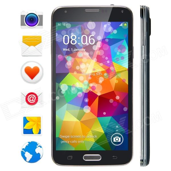 No.1 S7+ MTK6592 Octa-Core Android 4.3 WCDMA Smartphone w/ 5 Screen, Wi-Fi, GPS and ROM 8GB - Black zopo zp998 android 4 4 wcdma octa core bar phone w 5 5 screen wi fi and rom 16gb white