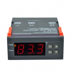 "CHEERLINK MH-1210A 1.7"" Screen Intelligent Digital Temperature Controller - Black ( AC 110V)"