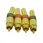 Free-Soldering AV Connector - Golden (4PCS)
