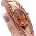 Elegant Bracelet Style Analog Quartz Wrist Watch - Coffee Golden (1 x 626)