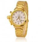 Classic Analog Quartz Wristwatch w/ Calendar - Golden (1 x SR626)