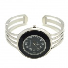Fashion Analog Quartz Bracelet Watch for Women - Black + Silver