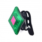 XL-001 Rechargeable 2-LED 3-Mode Green Bike Tail Safety Light  - Black + Green