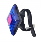 XL-001 Rechargeable 2-LED 3-Mode Blue Bike Tail Safety Light  - Black + Blue