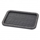 MS008 Vehicle Car Rhinestone Studded Anti-slip Non-slip PVC Mat Pad - Black