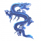 3D Dargon Style Plastic Car Decoration Sticker - Blue