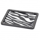 MS008 Vehicle Car Rhinestone Studded Anti-slip Non-slip PVC Mat Pad - Black + White