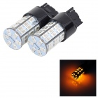 SENCART 7440 10W 20LM 590nm 5730 SMD LED Yellow Light Car Brake / Steering Lamp (2PCS / DC 12 ~16V)
