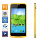 "ZOPO ZP580 Android 4.2 Dual-core WCDMA Bar Phone w/ 4.5"" Screen, Wi-Fi and GPS - Yellow"