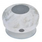 Waterproof Bluetooth V3.0 Bathroom Speaker w/ Microphone + Suction Cup - White + Grey