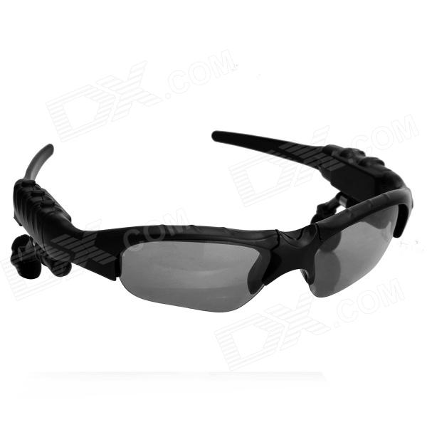 G100 Fashion Wireless Bluetooth V1.2 Sunglasses w/ Microphone for Mobile Phones - Black