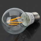 E27 6W 580lm 3000K 4-LED Filament Warm White Light Lamp Bulb - White (AC 220V)