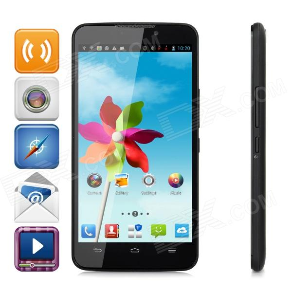 ZTE V5S Android 4.2 Quad-core WCDMA Bar Phone w/ 3.7 Screen, Wi-Fi and GPS - Black zte q705u android 4 2 2 quad core wcdma bar phone w 5 7 screen wi fi and gps white