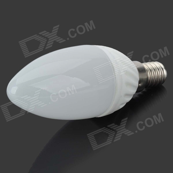 MSLED E14 4W 250lm 3500K 6-SMD 5730 LED Warm White Light Ceramic Candle Lamp - White (AC 85~265V) lexing lx lzd 1 e14 3w 200lm 3500k 6 smd 5730 led warm white lamp bulb 85 265v