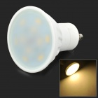 MSLED GU10 5W 350lm 3500K 10-SMD 5730 LED Warm White Light Spotlight - White (AC 85~265V)