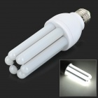 E27 12W 900lm 6000K 120-SMD 3014 LED White Light Corn Lamp - White + Grey (AC 220~240V)