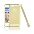 Angibabe 0.3mm Soft TPU Protective Glitter Jelly Phone Case for IPHONE 4 / 4S - Golden