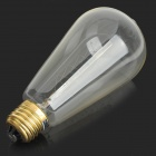 MLSLED MLX-T64-Y E27 40W 260lm Warm White Tungsten Filament Bulb - Transparent (AC 230V)