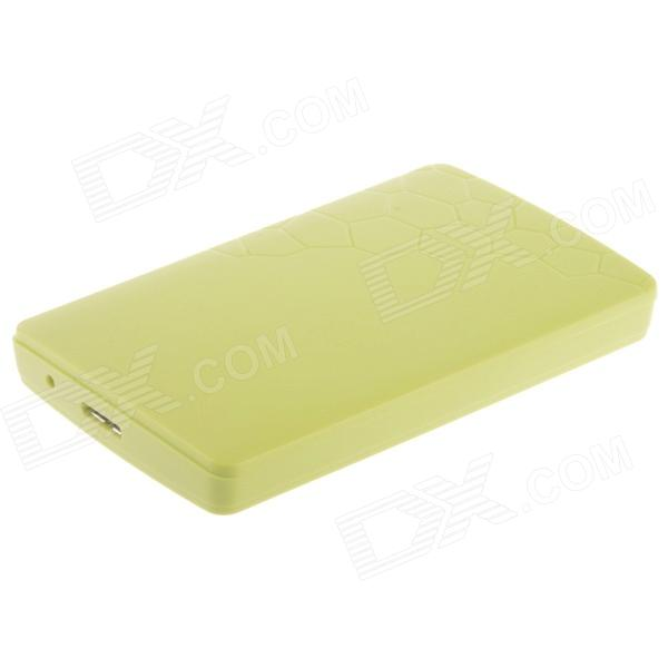 High-Speed USB 3.0 Hard Disk Drive Enclosure Case for 2.5 SATA HDD - Green high speed usb 2 0 hard disk drive enclosure case for 2 5 sata hdd white max 2tb