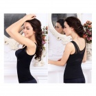 SS-01 Women's Thin Nylon Body Shaper Corset - Black (XL)