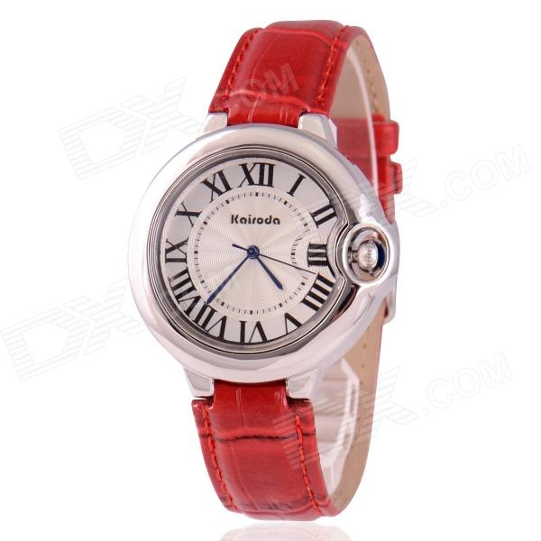 Women's Classic Roman Numeral Dial Display Analog Quartz Wristwatch - White (1 x SR626)