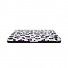 "Hat-Prince Leopard Leopard Pattern Protective Matte Case for MacBook Air 15.4"" - White + Purple"
