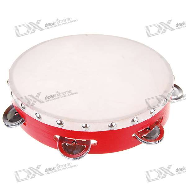Hard Plastic Leather Tambourine - Random Color